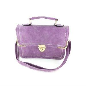 Elegant purple buckle small purse